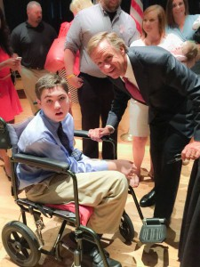 Aidan with Governor Haslam