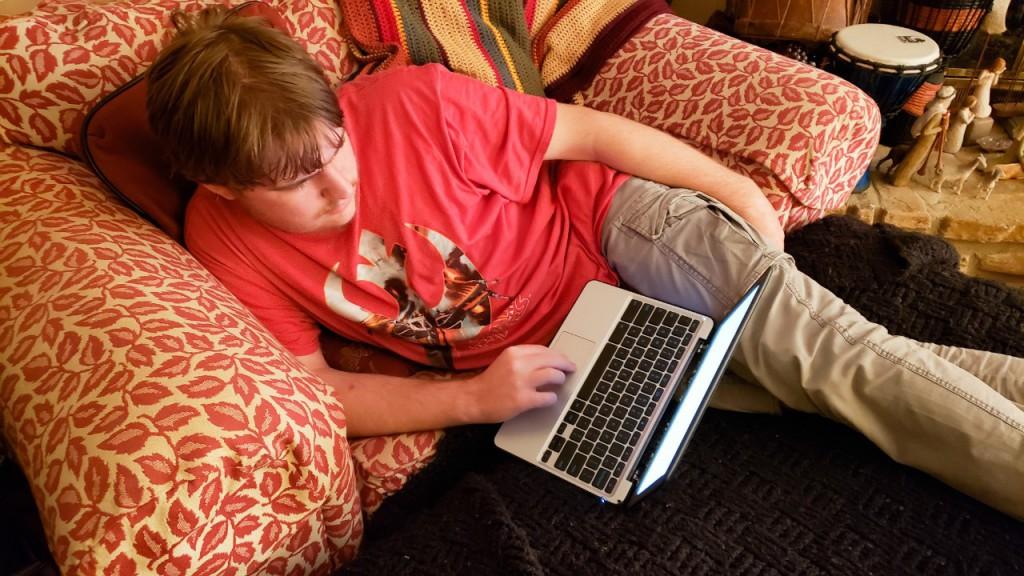Bernie with laptop